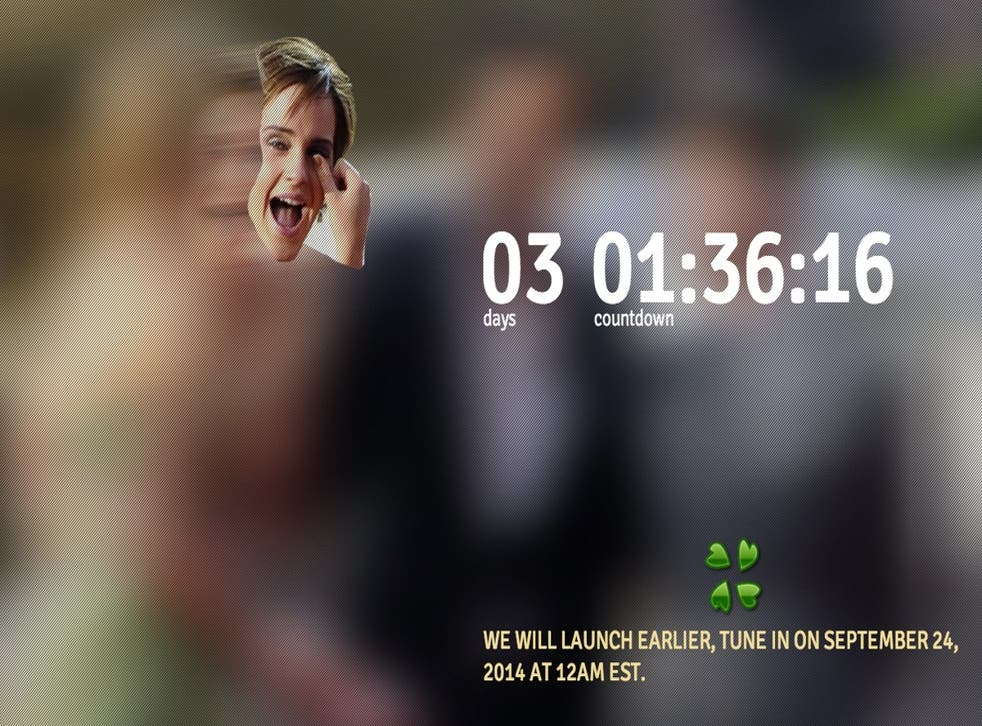 The countdown timer which has since disappeared from EmmaYouAreNext.com