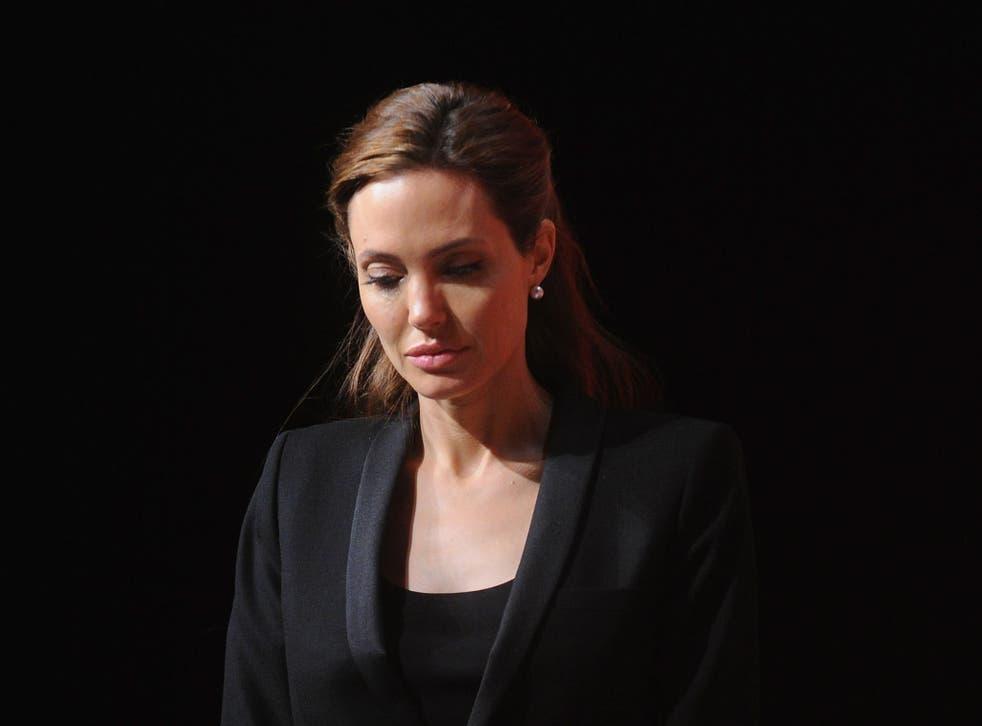 UN envoy and actress Angelina Jolie