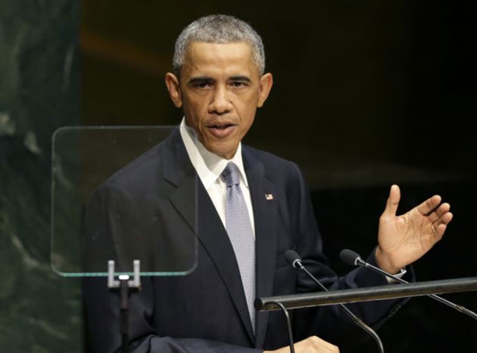 President Obama spoke during the 69th session of the United Nations General Assembly at the U.N. headquarters