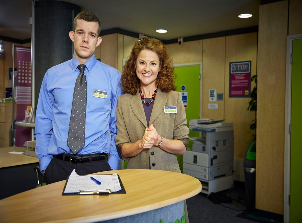 Russell Tovey and Sarah Hadland in The Job Lot series 2