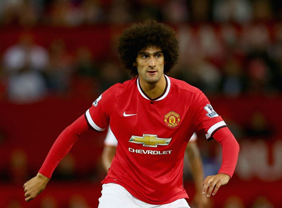 Marouane Fellaini in action for Manchester United