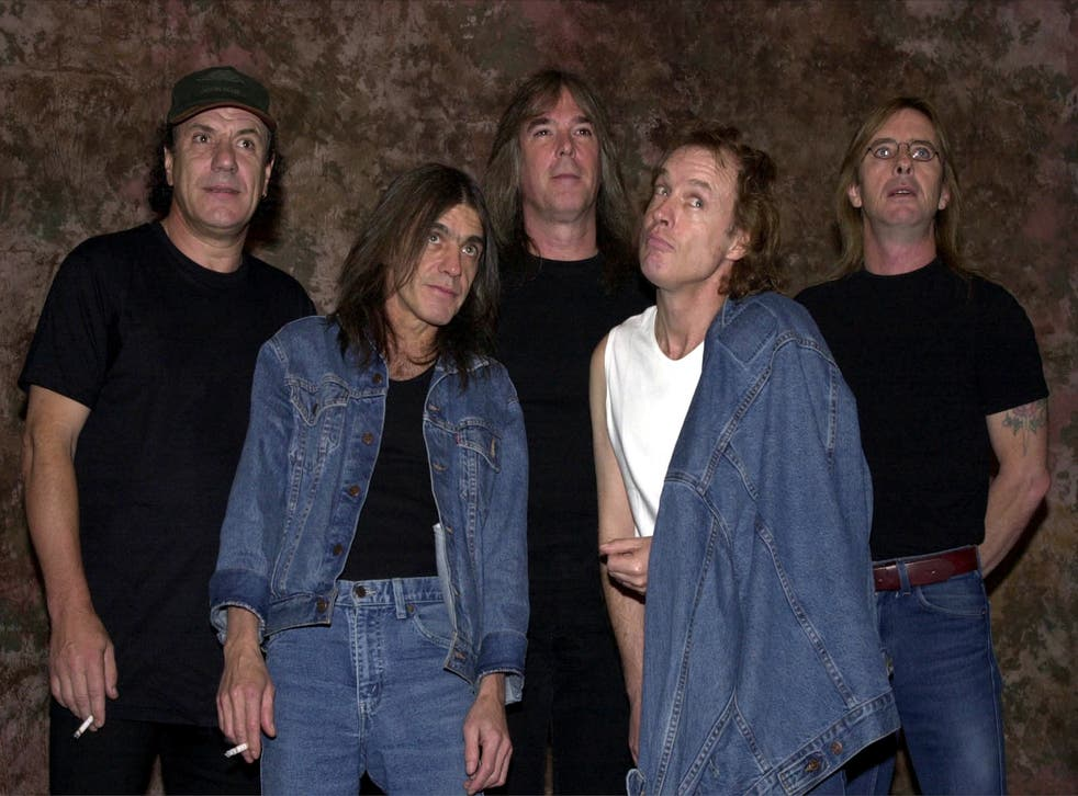 AC/DC pictured in 2005, with Malcolm Young second from the left