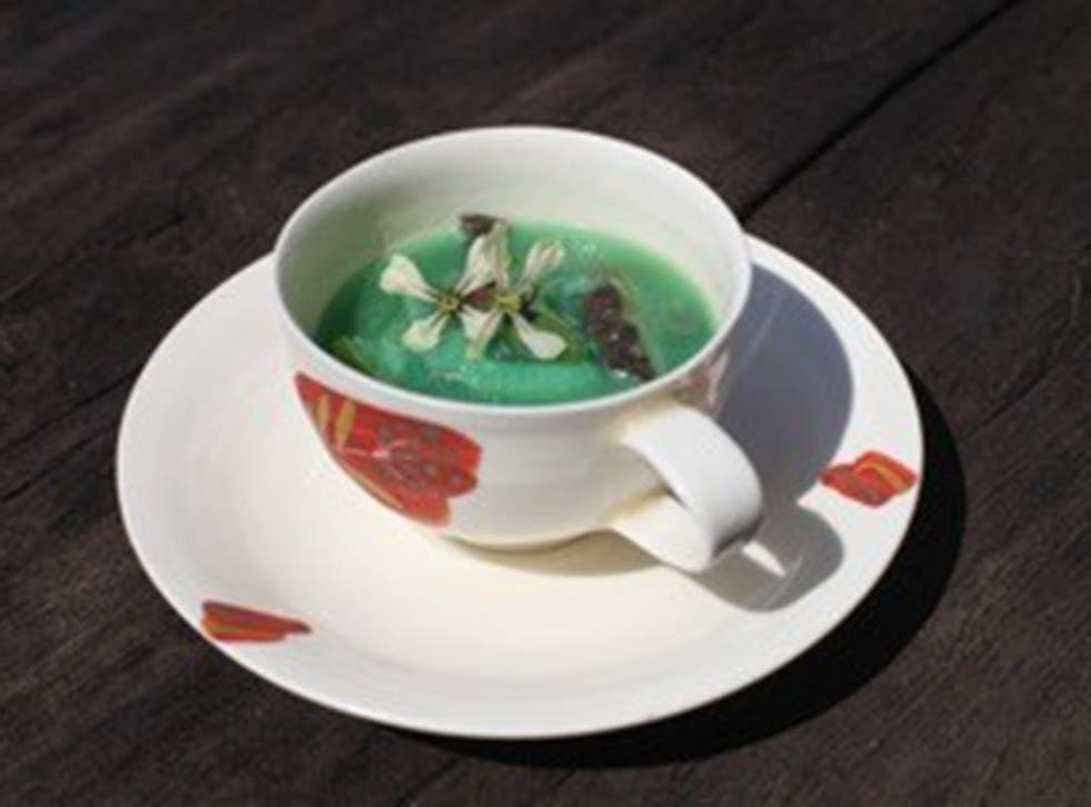 Soup made from vegetables from Fukushima