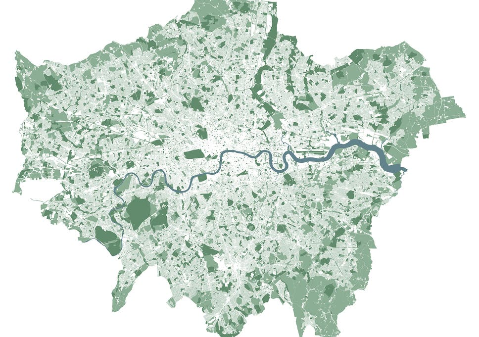 London And Greater London Map.47 Per Cent Of London Is Green Space Is It Time For Our Capital To