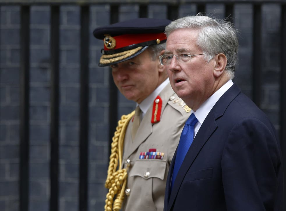 """Michael Fallon, the Defence Secretary, raised the prospect of """"a long drawn-out campaign"""""""