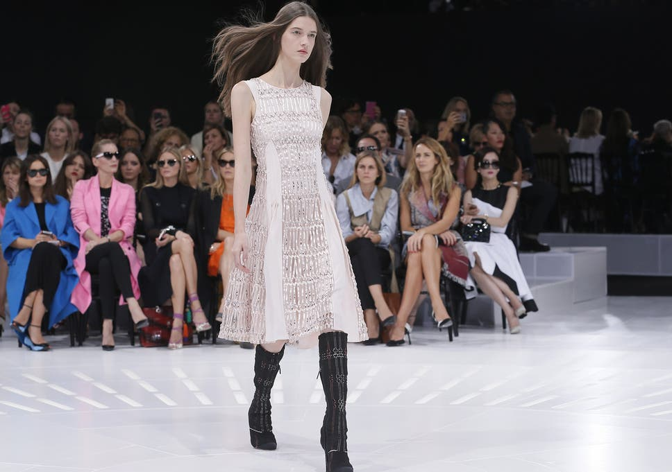 9e1aca7aec Dior spring summer 2015 ready-to-wear Paris Fashion Week review  Hybrid  garments that allowed observers to scroll through the centuries in a single  glance