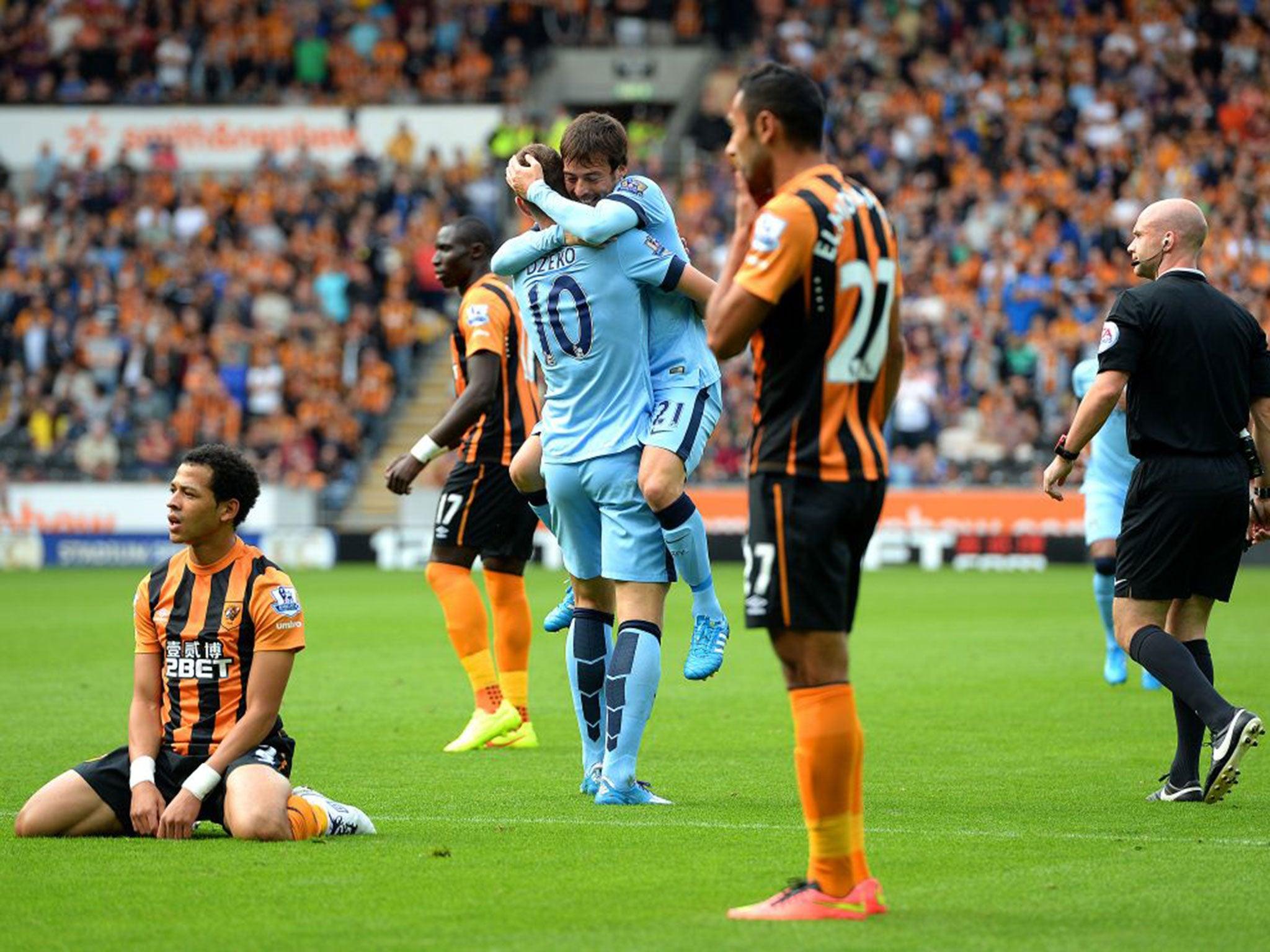 Hull City vs Manchester City match report Edin Dzeko double earns