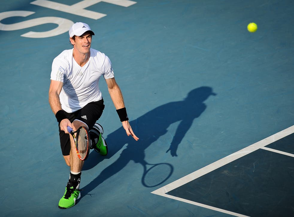 Andy Murray in action at the Shenzhen Open
