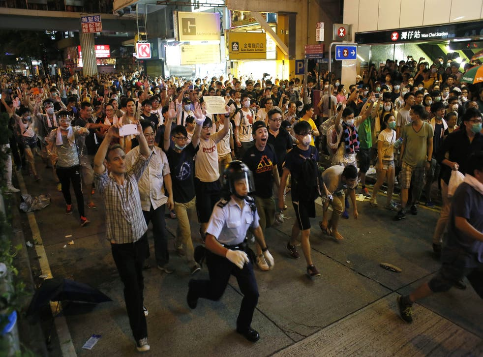 Student protesters march through Hong Kong