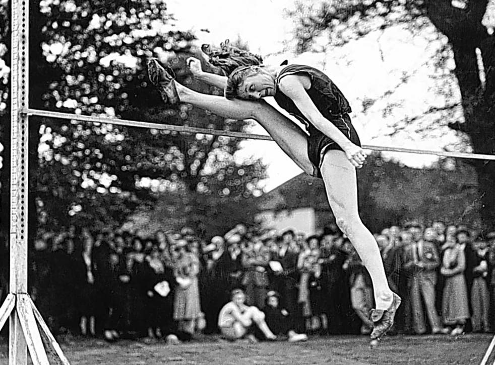 Tyler in 1938; 'They didn't like us to do the long jump back then because they thought it would damage our abdominal muscles'
