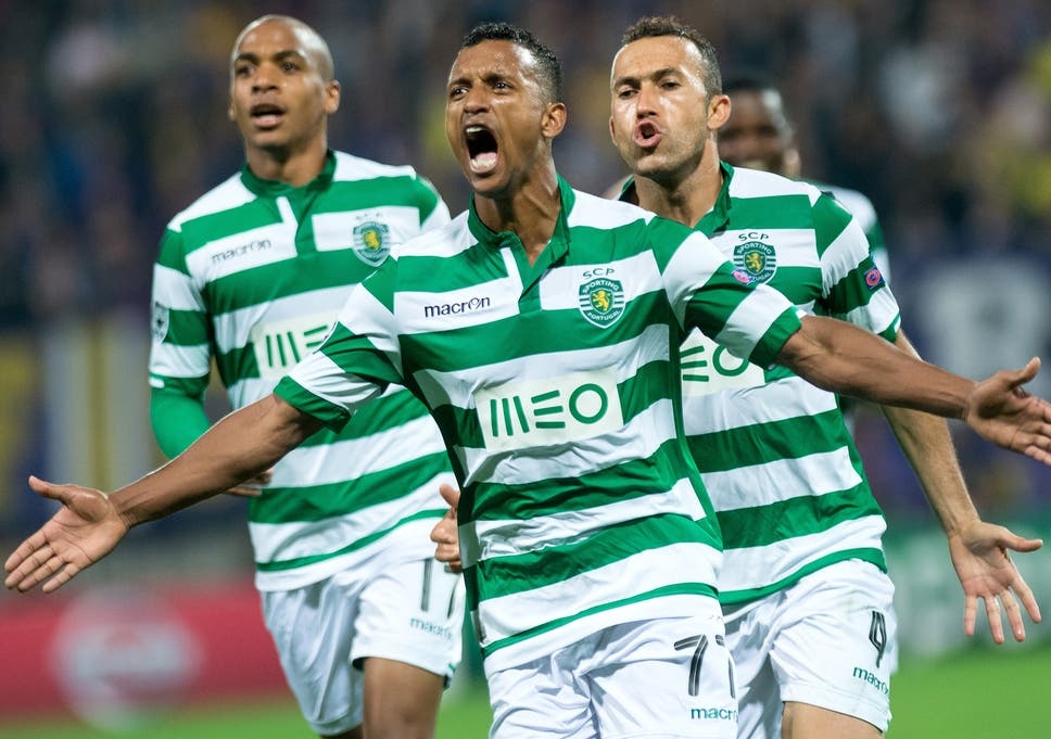 Nani In Action For Sporting Lisbon
