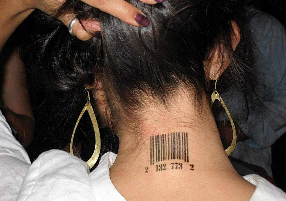 Some victims of human trafficking were found to have been tattooed with bar  codes