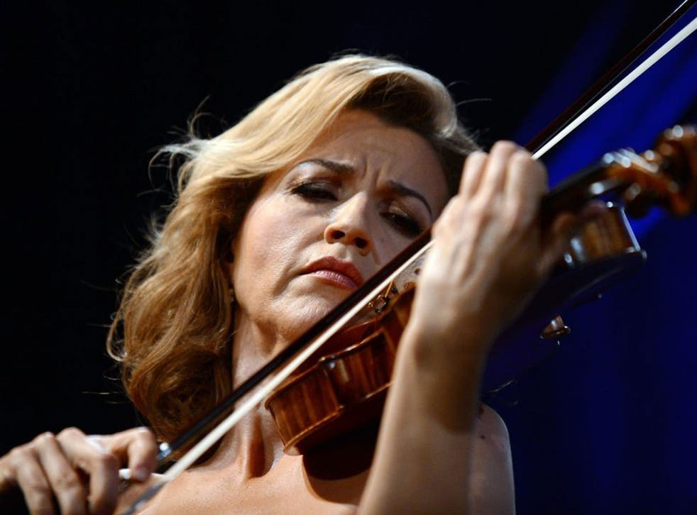 Anne-Sophie Mutter, who debuted at 13