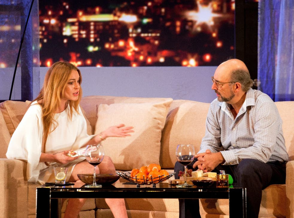 Lindsay Lohan, with Richard Schiff, has real presence in her role as a temporary secretary in 'Speed-the-Plow'