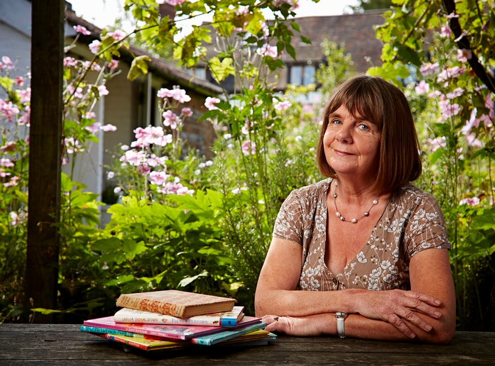 Children's Author Julia Donaldson at home in West Sussex