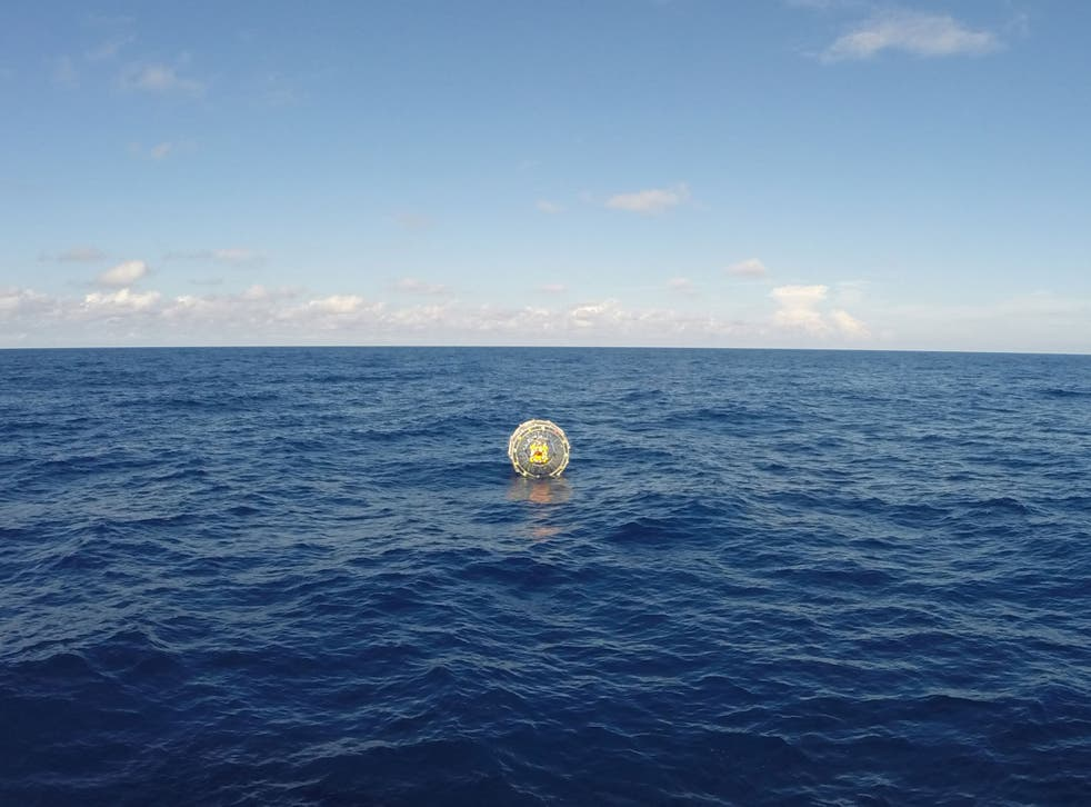 Coast Guard air crew were able to safely pick up Reza Baluchi and the bubble Saturday