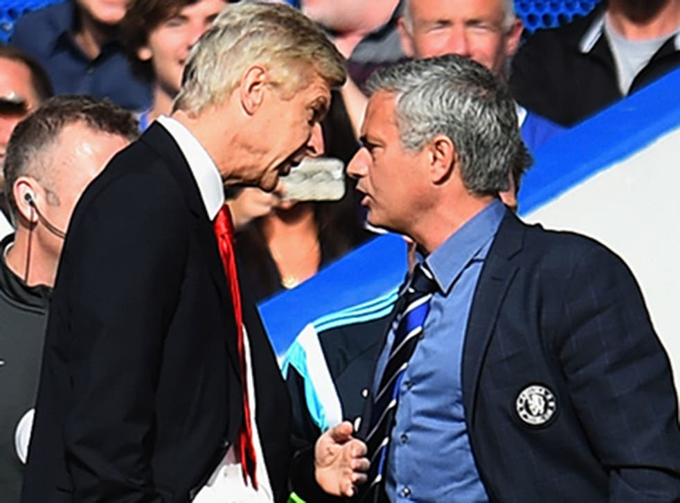 Arsene Wenger and Jose Mourinho clash on the touchline