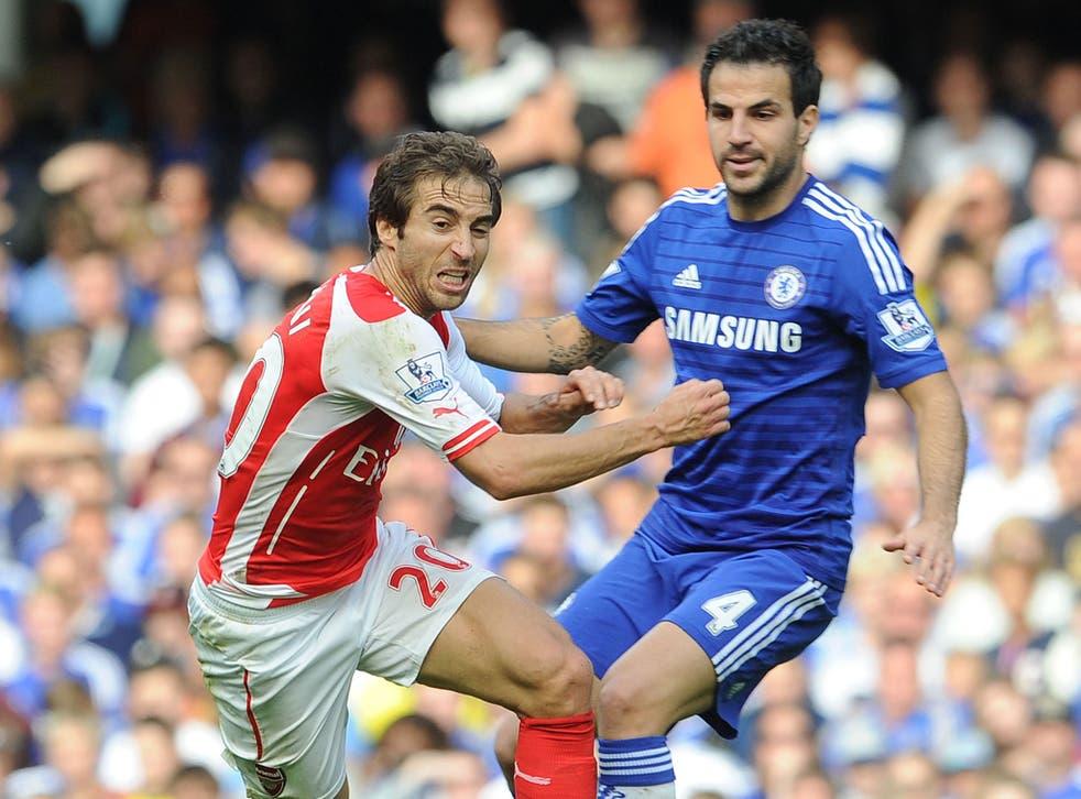 Cesc Fabregas excelled against former side Arsenal