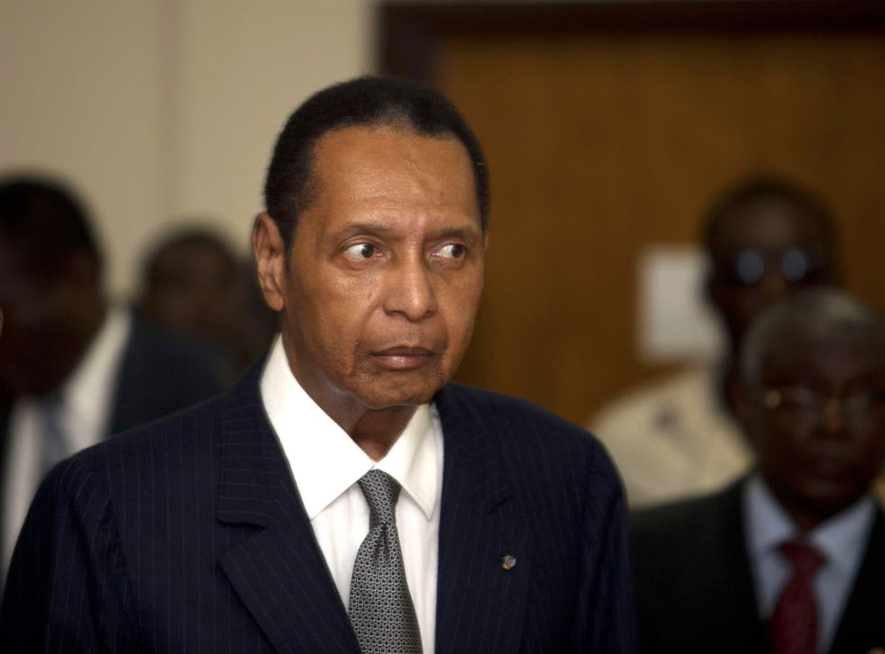 Duvalier attends a court hearing in 2013