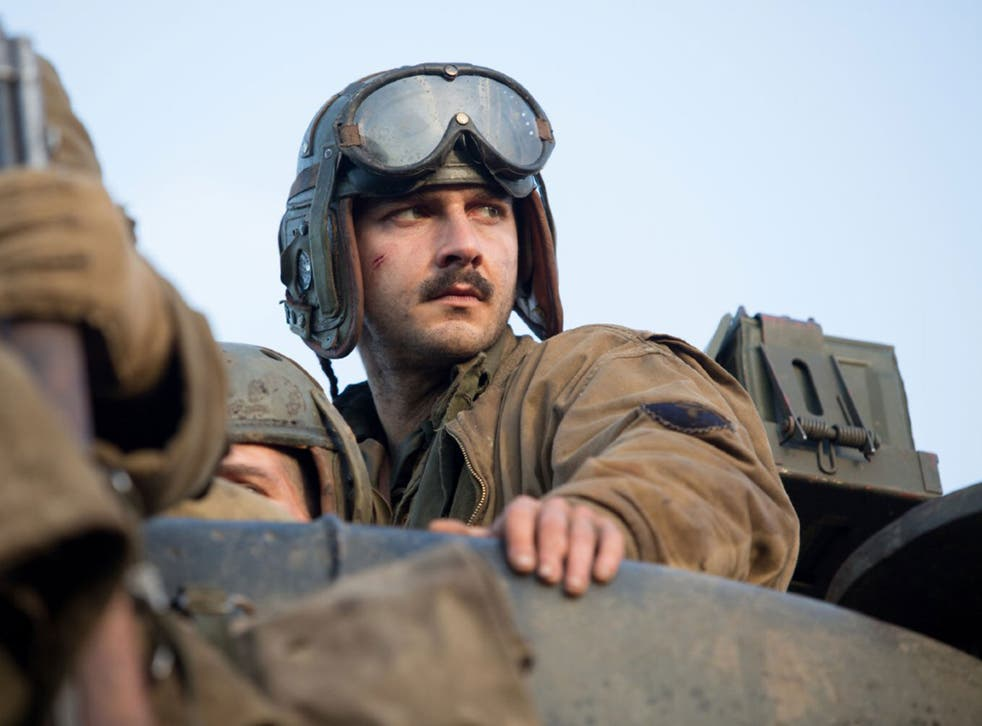 Shia LaBeouf plays a World War II soldier in forthcoming drama Fury