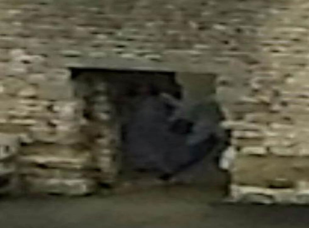 A couple's photograph of Dudley Castle appeared to show a ghostly figure in an archway