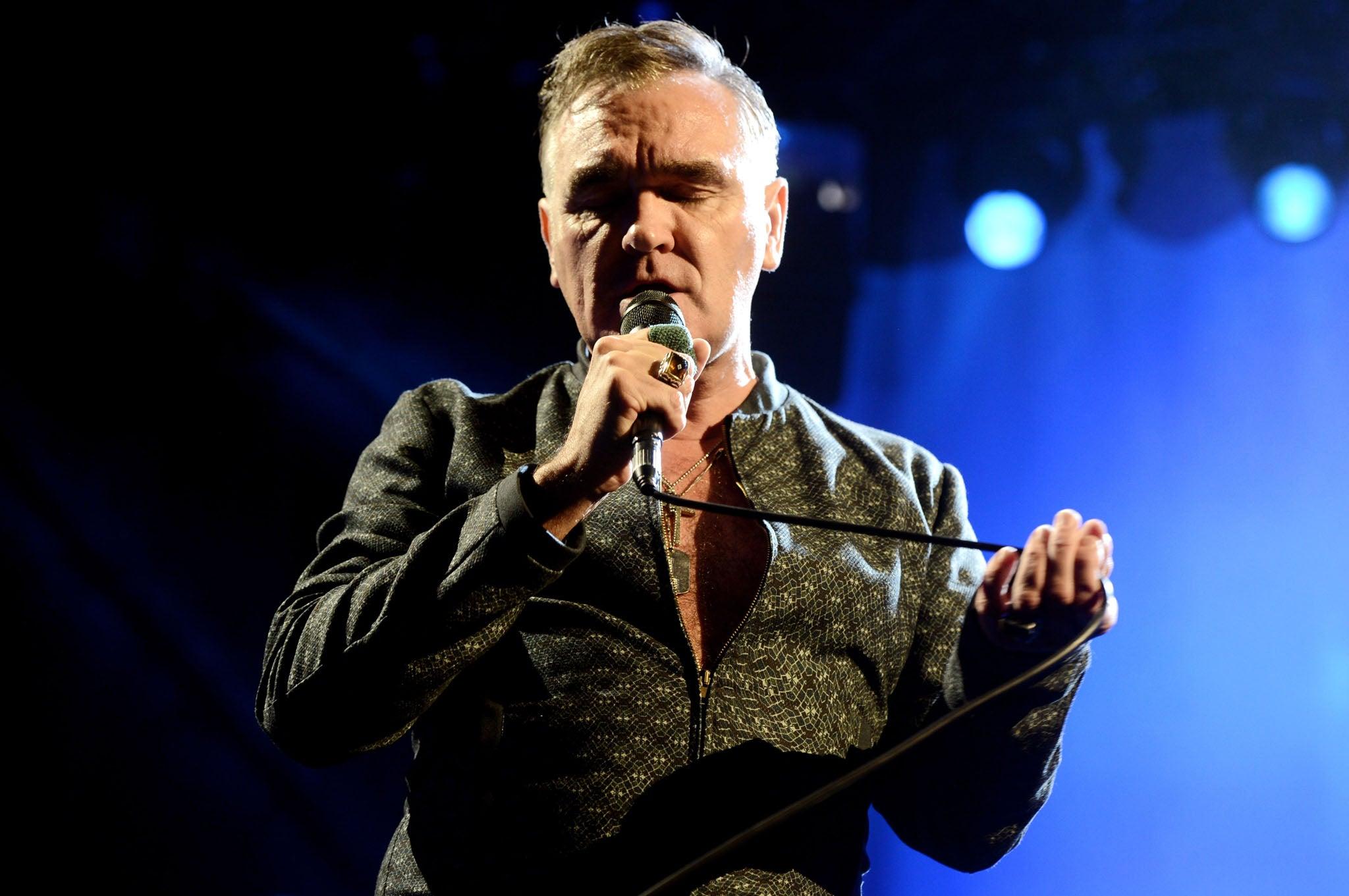 Morrissey es reconocido por ser un cantante de gran euforia durante sus conciertos