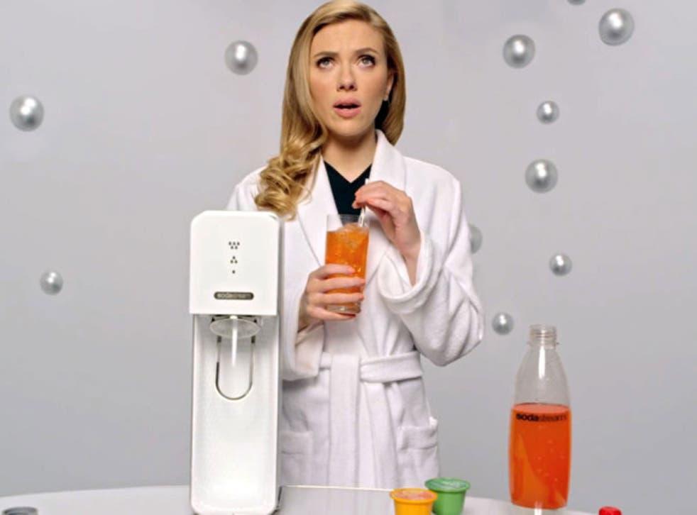 Actress Scarlett Johansson is SodaStream's brand ambassador