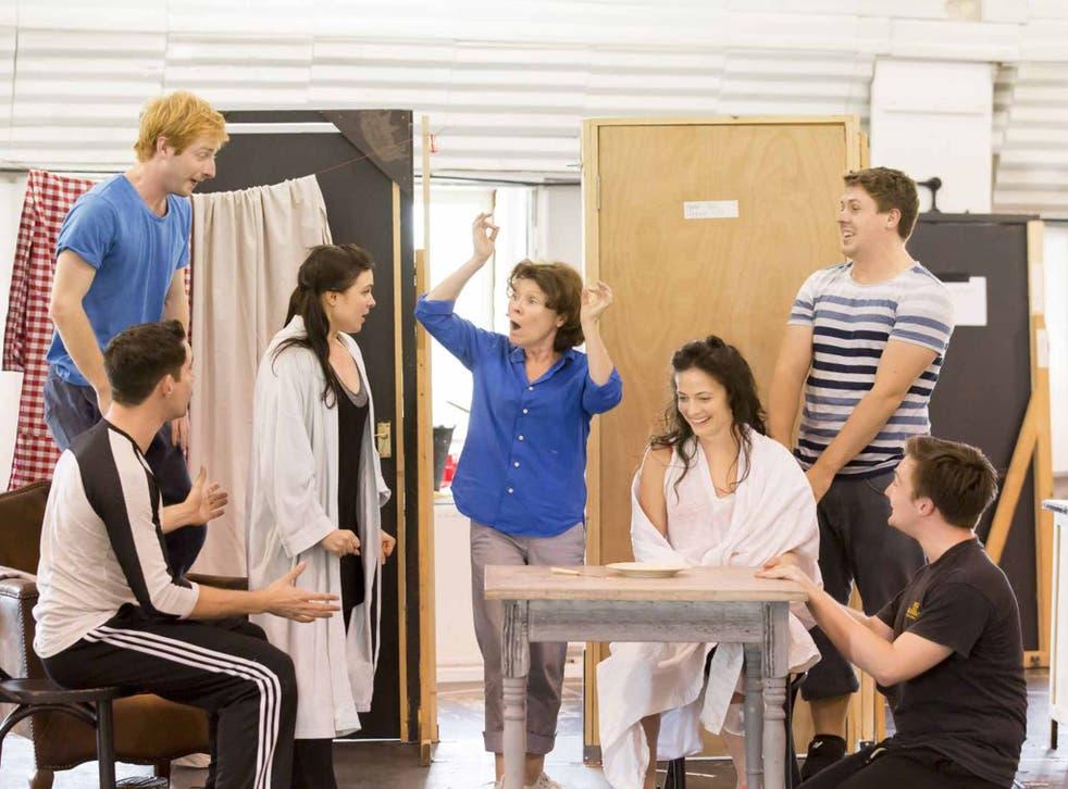 Wandering star: Imelda Staunton in rehearsals for 'Gypsy'