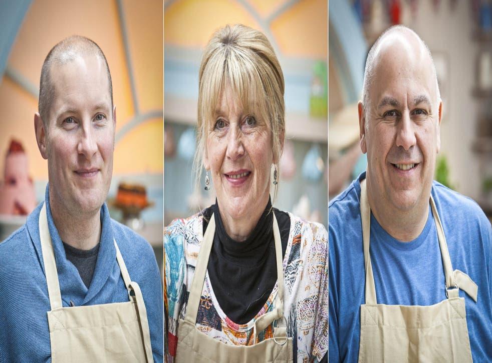 Bake Off finalists 2014: Richard Burr, Nancy Birthwhistle and Luis Troyano