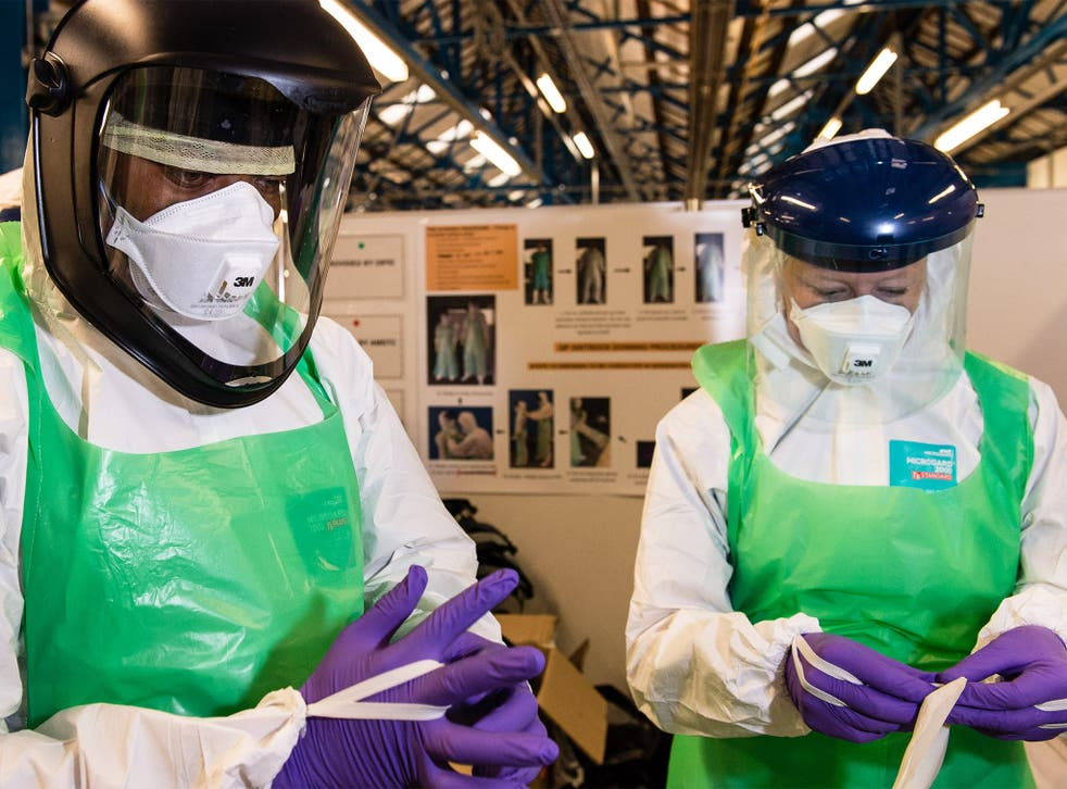 British military personnel train for a deployment to Sierra Leone in support of the ebola outbreak in the country