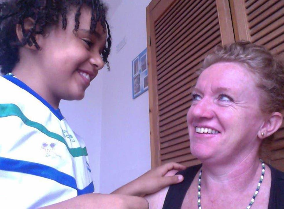 Kofi Mason-Sesay and his mother, Miriam