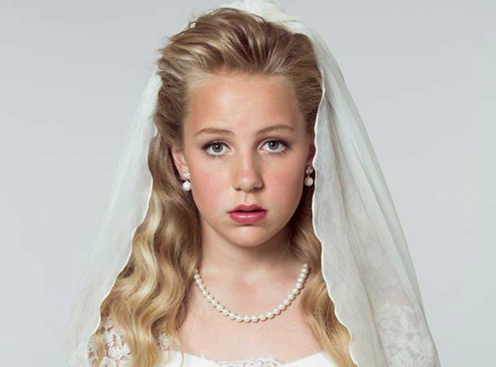 'Thea' in her wedding dress