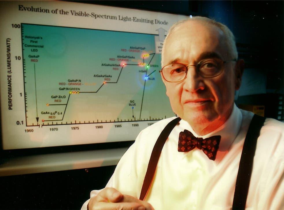 Professor Holonyak discovered LEDs used in DVDs, alarm clocks and traffic lights