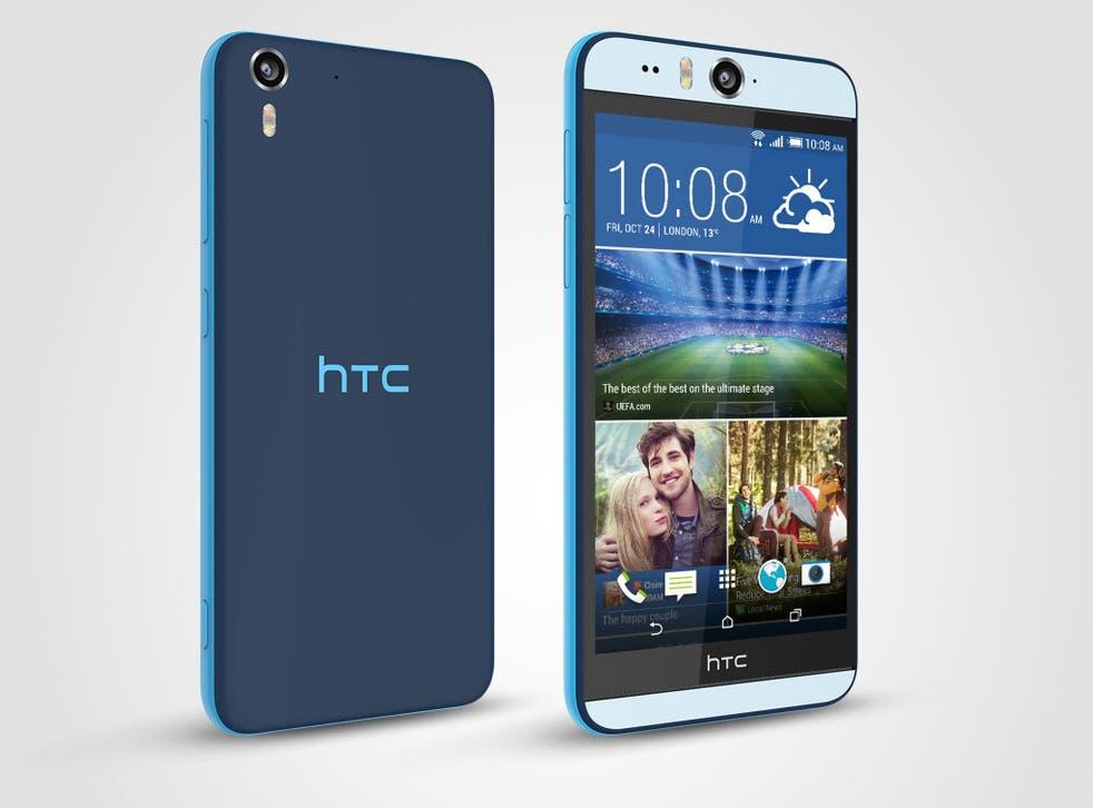 HTC Desire Eye: The slick, reasonably slimline phone has an industry-standard 13-megapixel rear camera