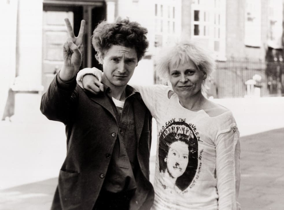 Fashion designer Vivienne Westwood with singer Malcolm McClaren