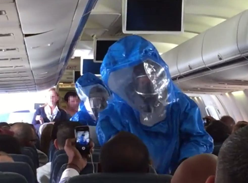 An Ebola scare on a plane caused a full-scale alert