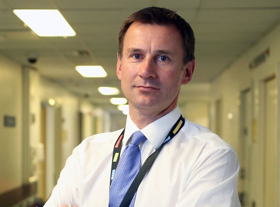Jeremy Hunt, Health Secretary, at the Chelsea and Westminster Hospital in London, in May last year