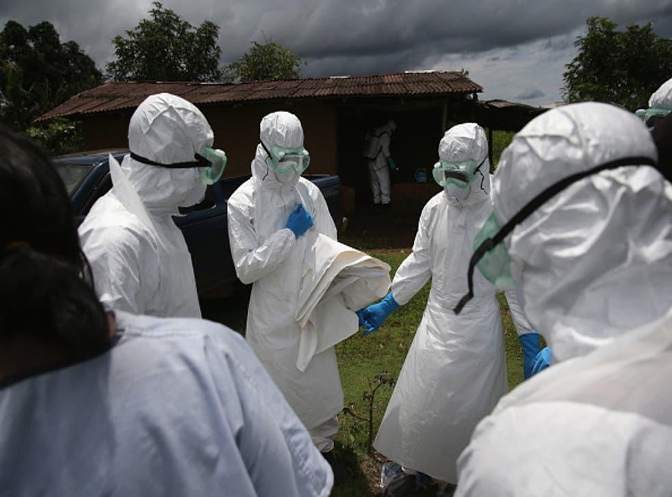 Ebola hazmat suits in Liberia