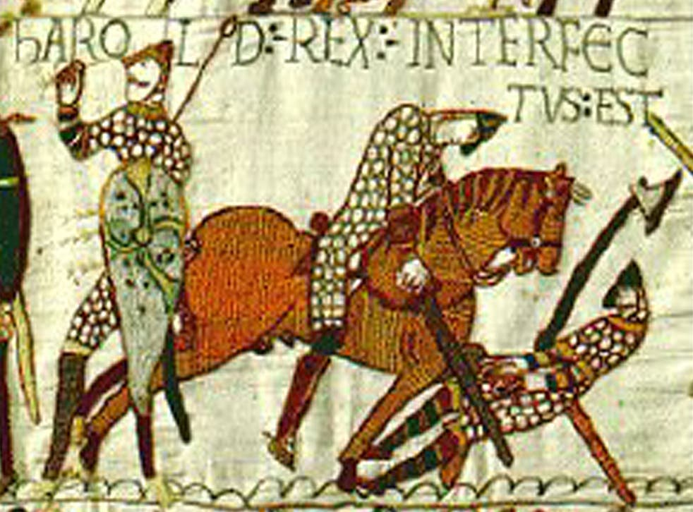 A section from the Bayeaux Tapestry