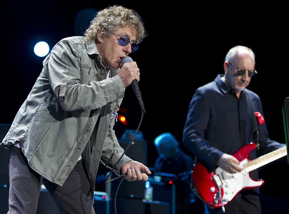 Roger Daltrey and Pete Townshend of The Who performing in 2013