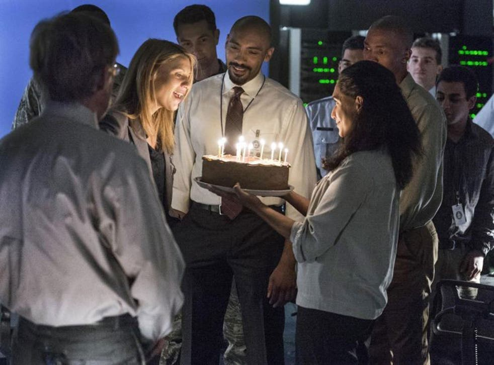 The party line: Claire Danes and Alex Lanipekun in Homeland