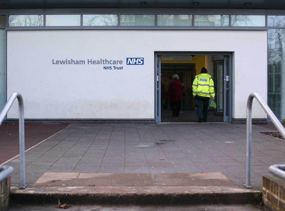 The entrance to Lewisham A&E