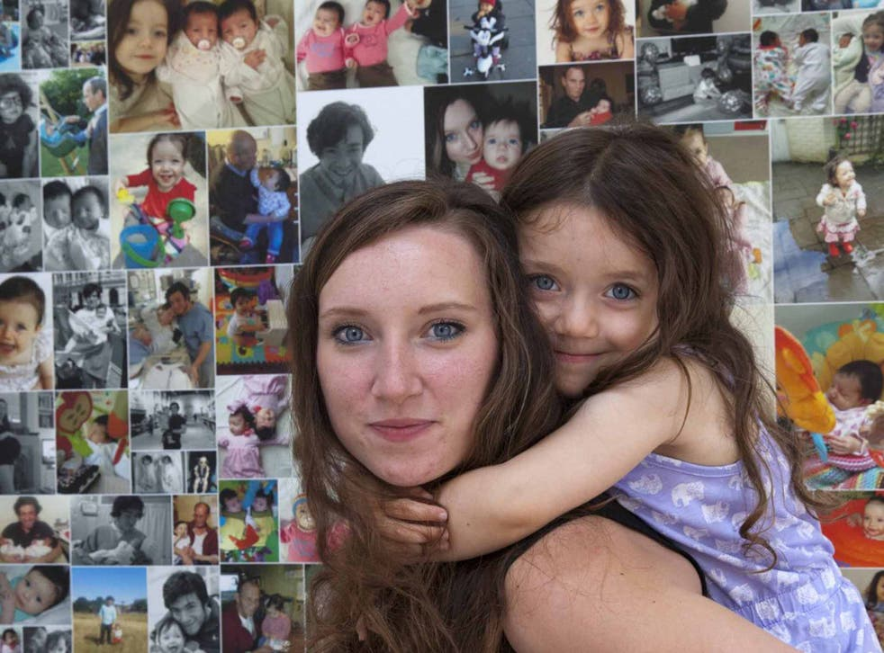 Facing the future: Emma East at home with her daughter, Olivia
