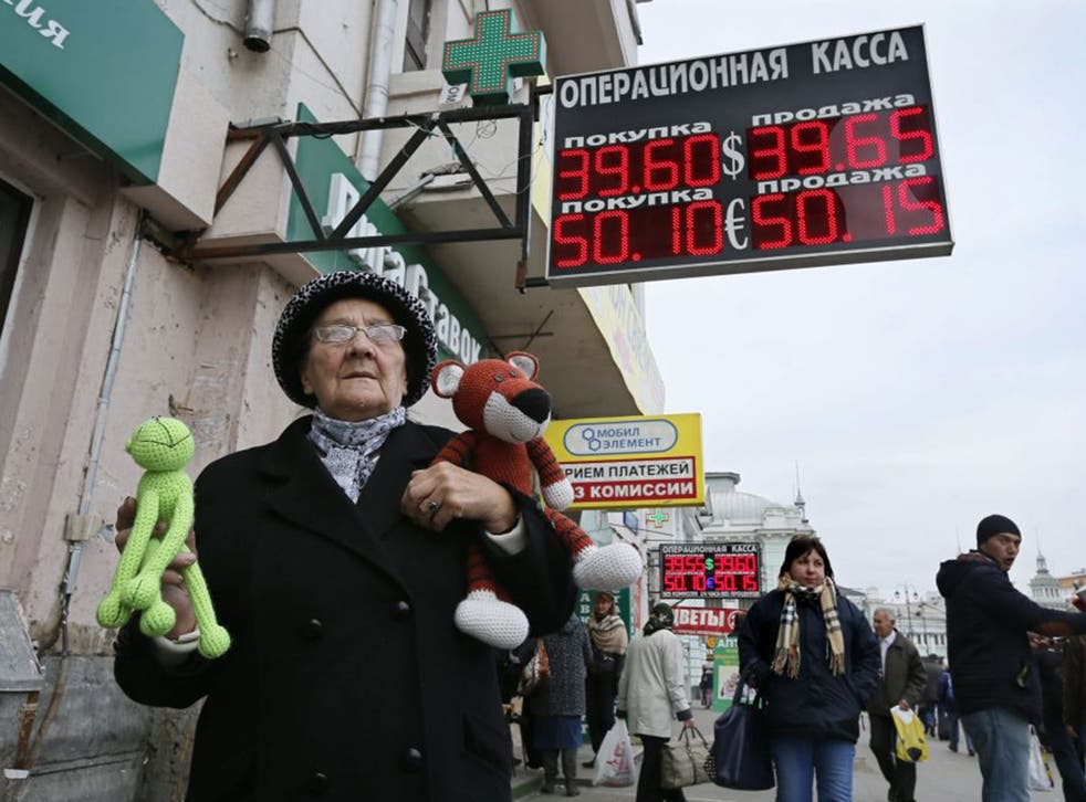 Economic warfare with the West is driving down the rouble