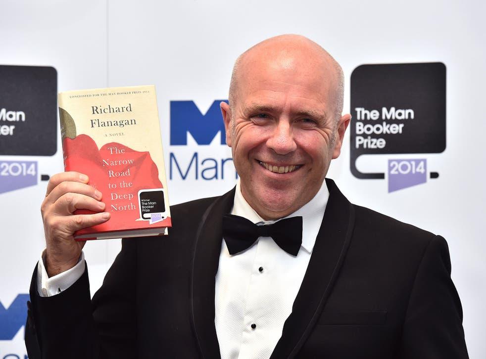Richard Flanagan with his winning novel