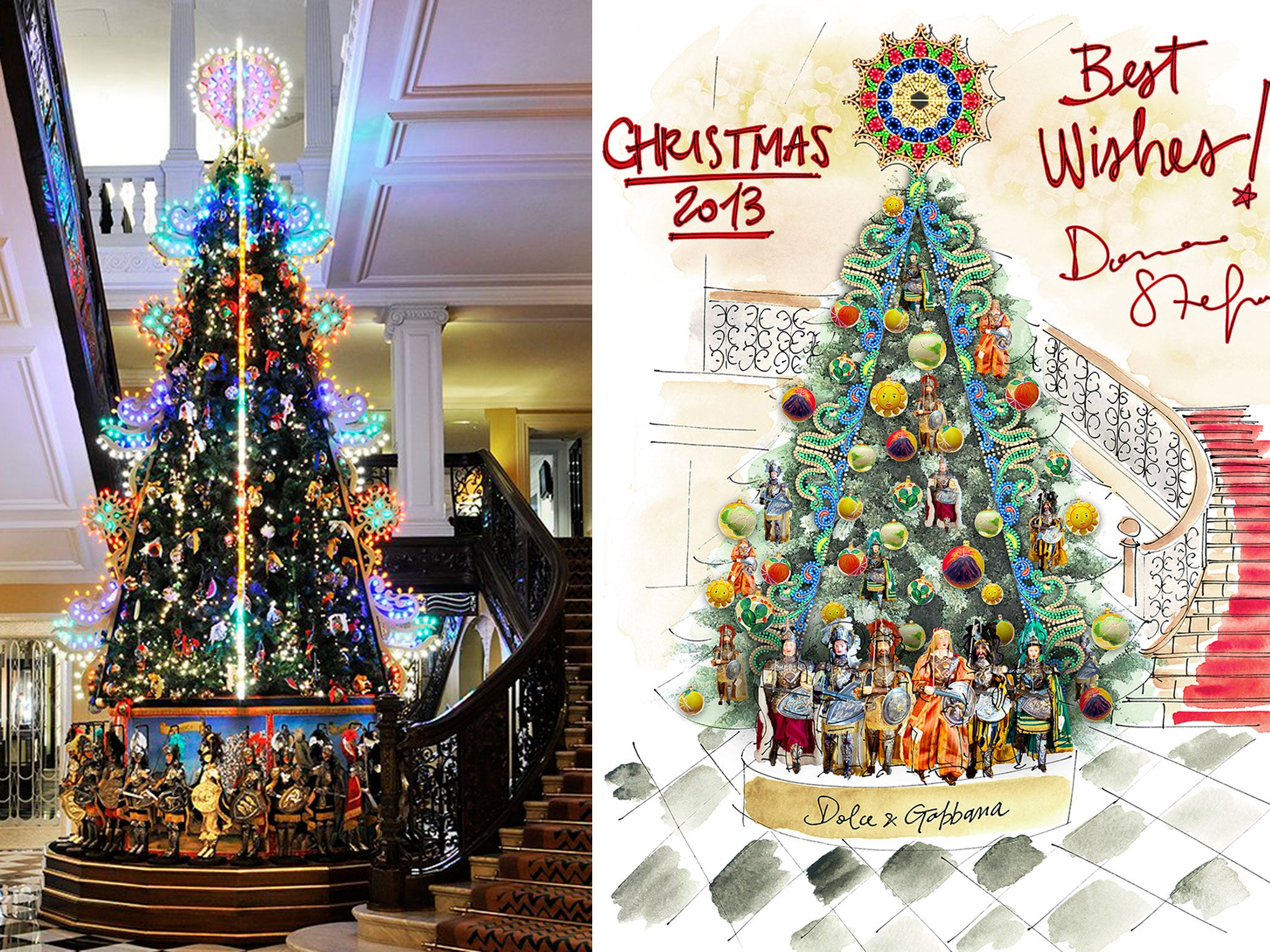 last years christmas tree designed by dolce and gabbana - How Long Can A Christmas Tree Last
