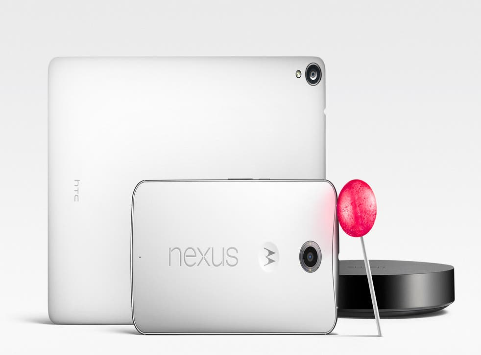 The Nexus 9, Nexus 6 and Nexus Player.