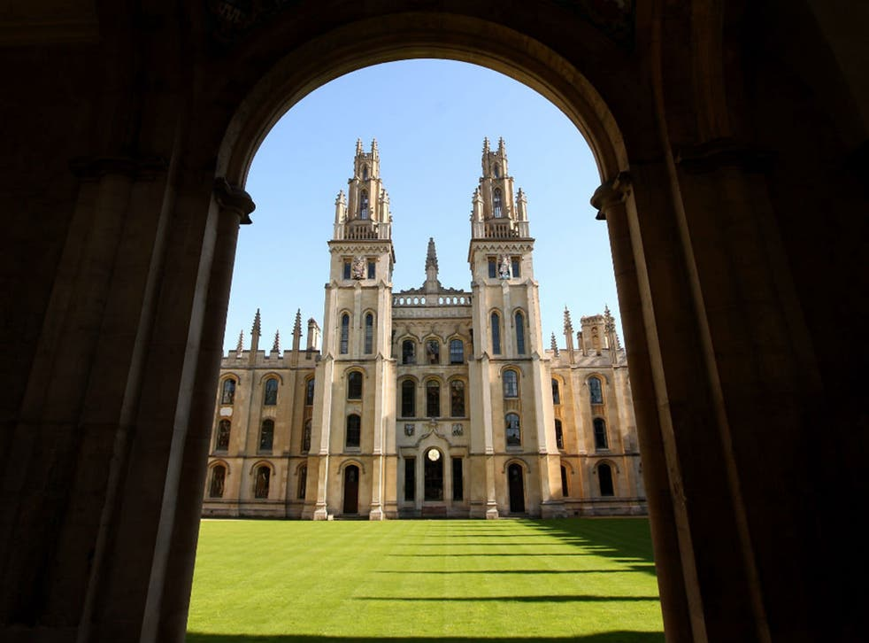 The University of Oxford, pictured