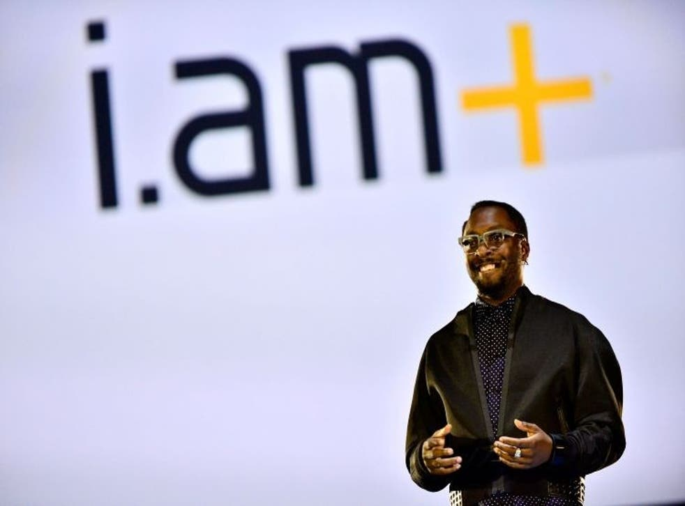 SAN FRANCISCO, CA - OCTOBER 15:  will.i.am announces the launch of i.amPULS at Dreamforce 2014 on October 15, 2014 in San Francisco, California.