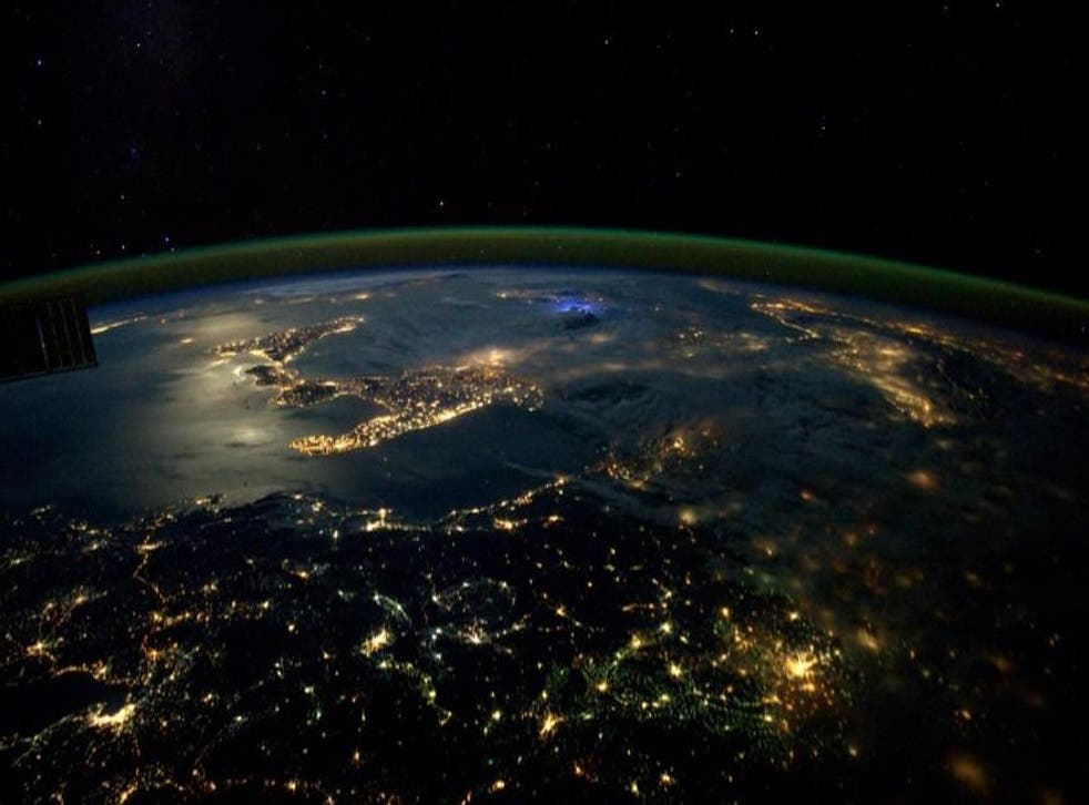 Italy at night, observed from the International Space Station